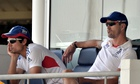 There are rumours that Kevin Pietersen, right, fell out with Alastair Cook