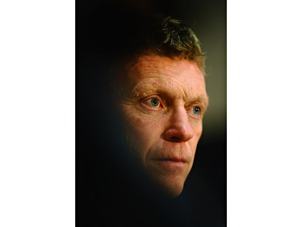 Manchester United manager David Moyes during a press conference at Old Trafford