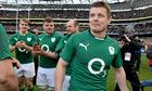 Brian O'Driscoll is applauded off the park by his team-mates