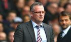 Paul Lambert, the Aston Villa manager, faces an uncertain future.