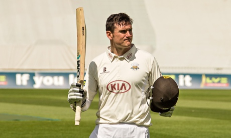 Graeme Smith acknowledges the crowd after scoring a century for Surrey earlier this month