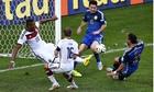 Jerome Boateng successfully blocks a shot