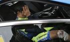 Spain's Alberto Contador covers his face