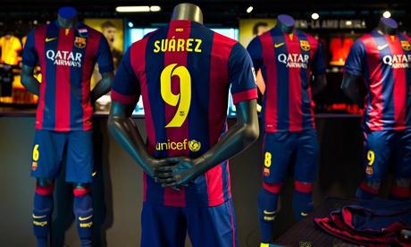 Luis Suarez Barcelona shirt