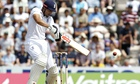 England's captain Alastair Cook plays a cut shot during his timely 95 against India.