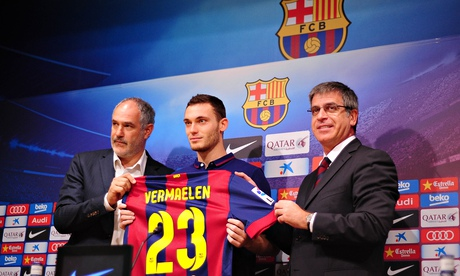 Thomas Vermaelen completed his move to Barcelona today and called it 'a dream'.