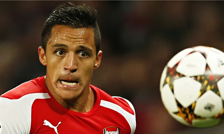 Despite being peripheral to much of the action Alexis Sánchez provided Arsenal's winning goal.
