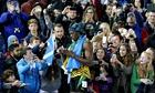 Usain Bolt signs autographs