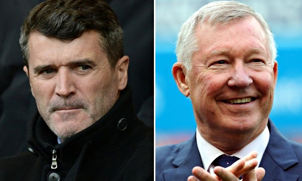 Sitting comfortably? Sir Alex Ferguson and Roy Keane stuck on same plane