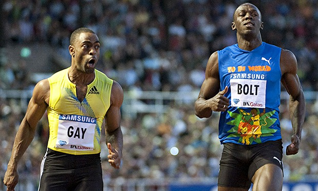 Tyson Gay hates being in Usain Bolts