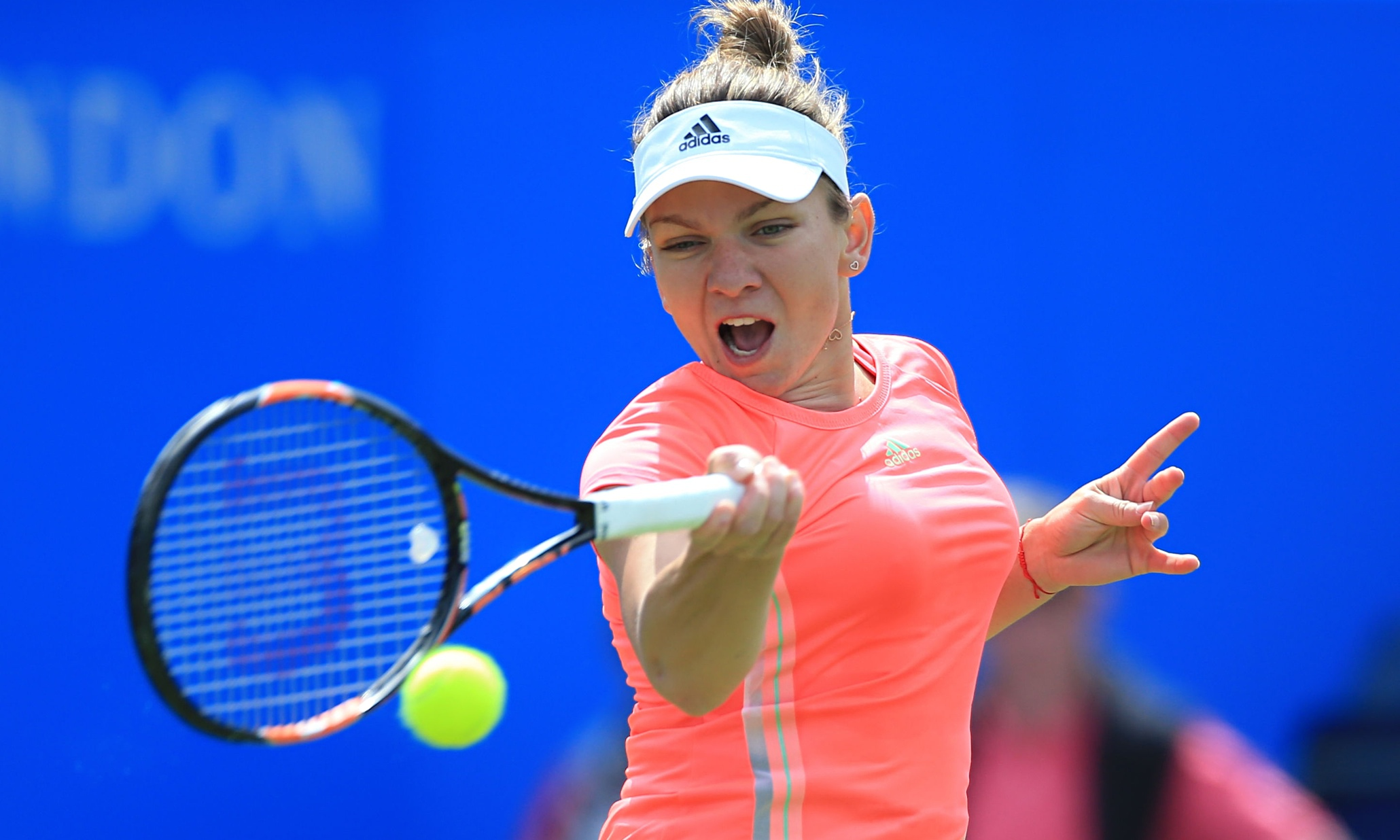 Simona Halep Advances As Top Seeds Recover Poise In Birmingham Blue Follows Departures Of Ana Ivanovic And Victoria Azarenka On Wednesdaysimona Led A Strong Day For The
