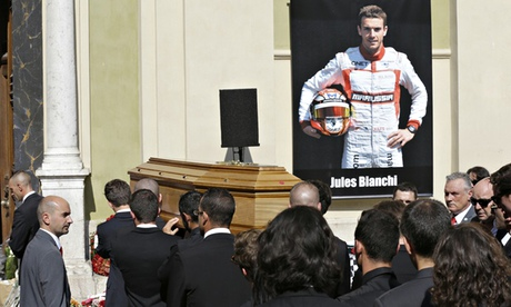Lewis Hamilton among mourners at Jules Bianchi's funeral in Nice