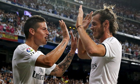 James Rodríguez and Gareth Bale at double for Real Madrid against Betis
