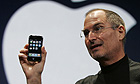 Apple CEO Steve Jobs demonstrates the new iPhone