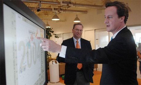 David Cameron visits Google