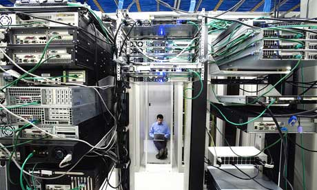 server room with it administrator