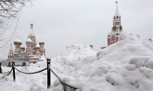 Snowdrifts in Red Square