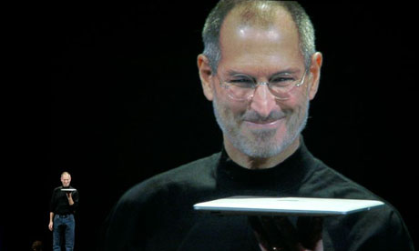 steve jobs health issues. Apple CEO Steve Jobs shows off