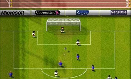 Sensible World of Soccer computer game screenshot. Sensible World of Soccer