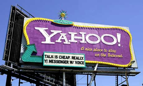 Yahoo billboard in San Francisco