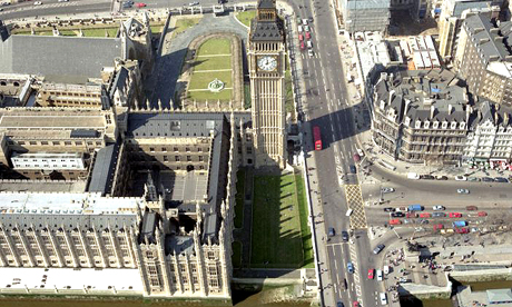 Westminster from the air