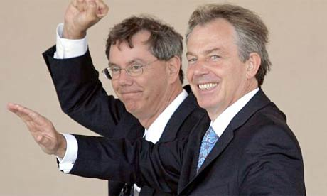 Genentech boss Arthur Levinson with Tony Blair in 2006