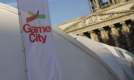 The Game City tent in Nottingham's Market Square