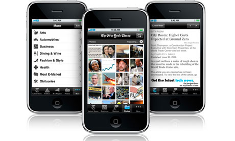 New York Times iPhone app