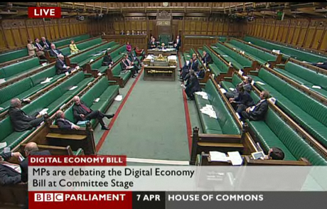 The Commons debates the Digital Economy bill, April 2010