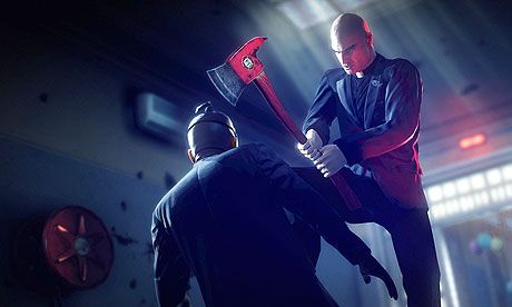 Agent 47 and an Axe