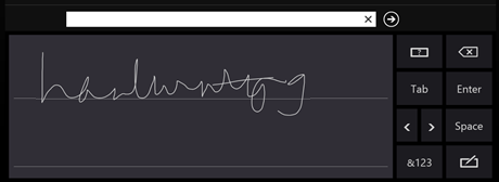 Windows 8 tablet handwriting before
