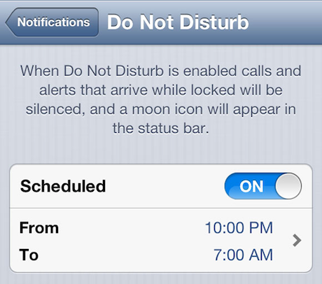 Apple Do Not Disturb