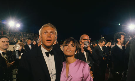 Steve McQueen and His Wife Neile Adams Attending the 1967 Academy Awards