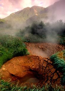 Mud boils in Kamchatka