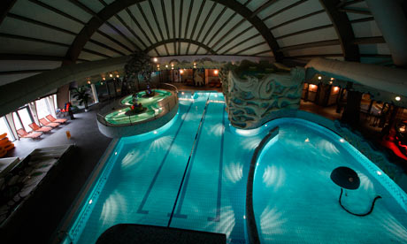 The swimming pool of Spa Centras Druskininkai, Lithuania