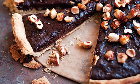 Nigel Slater's chocolate and toasted nut tart