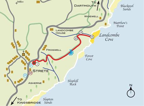 secret beaches landcombe map