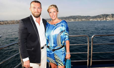 Thor and partner Kristin Olafsdottir at a party in Cannes.