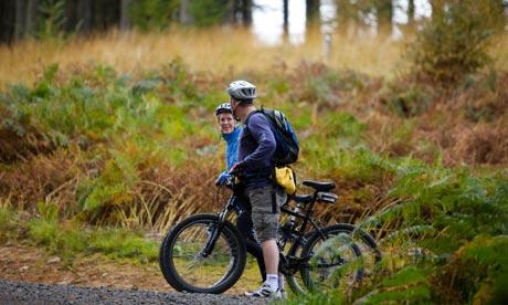 Cycling at Kielder Water