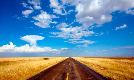 Lonely road in Texas