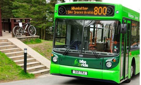Number 800 bike bus, Windermere, Lake District