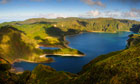 The volcanic crater of Lagoa do Fogo on São Miguel