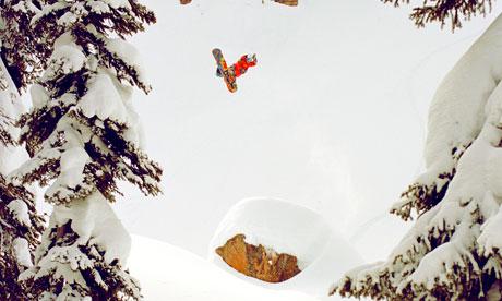 Travis Rice snowboarding