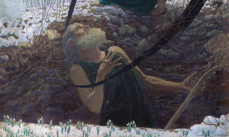Detail from Death and the Gravedigger