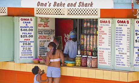 Bake N Shark shack, Maracas Bay, Trinidad