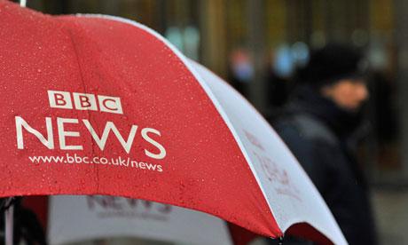 A BBC News umbrella