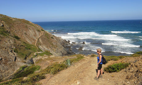 Liz on the Fishermen's Trail