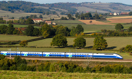 New high speed train to barcelona travel the guardian for Tren barcelona paris