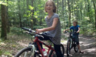 Rose and William cycling in France