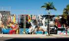 Street scene in Miami's Wynwood Arts District
